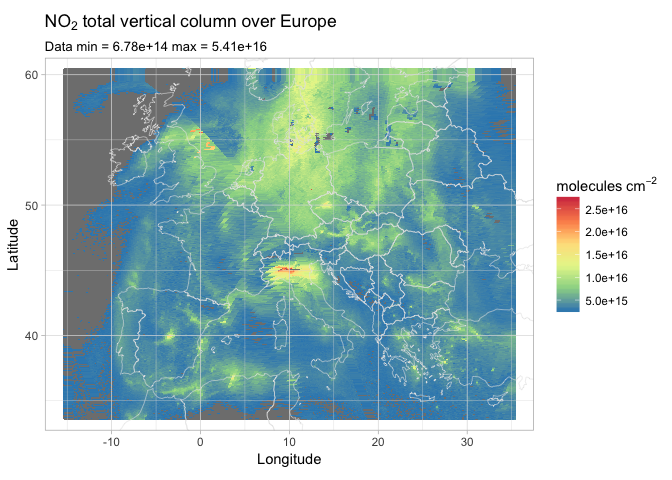 Plotting Sentinel-5P NetCDF products with R and ggplot2